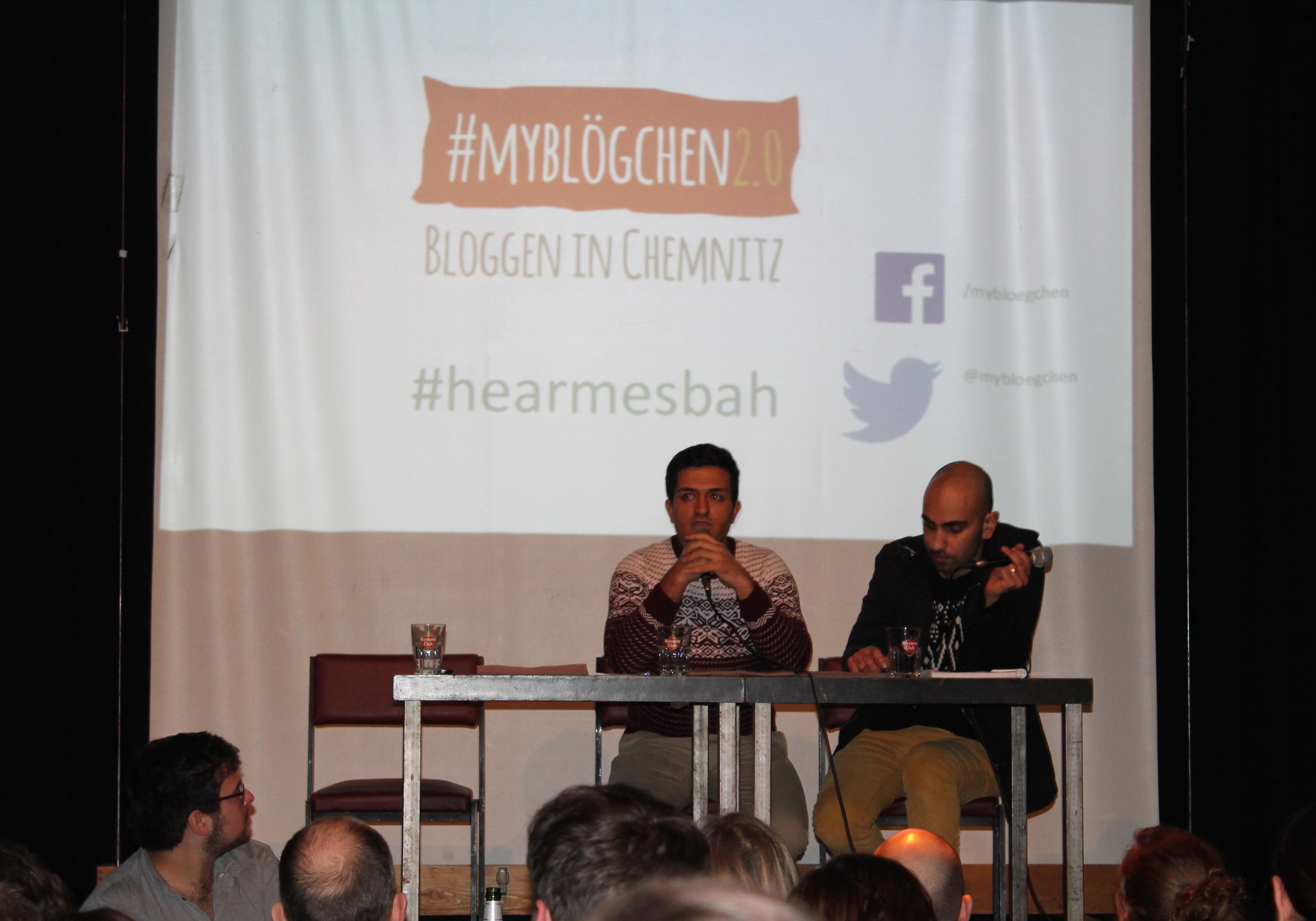 Sprachmittler Mostafa Alemi (links), Mesbah Mohammady (rechts)